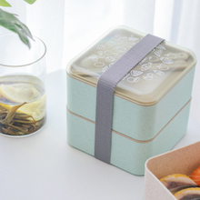 High Quality Double Layer Lunch Box Food Container Microwave Heating Bento Boxes Lunchbox Dinnerware For Office Work School