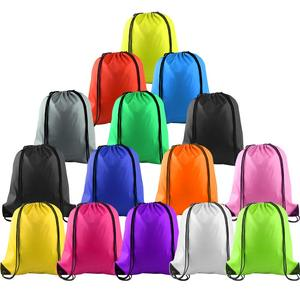 Multicolor Drawstring Backpack Bags Sports Cinch Sack String Backpack Storage Bags for Gym Traveling(China)