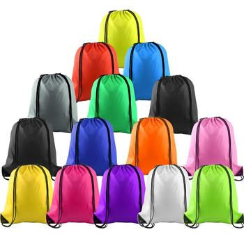 Multicolor Drawstring Backpack Bags Sports Cinch Sack String Backpack Storage Bags for Gym Traveling