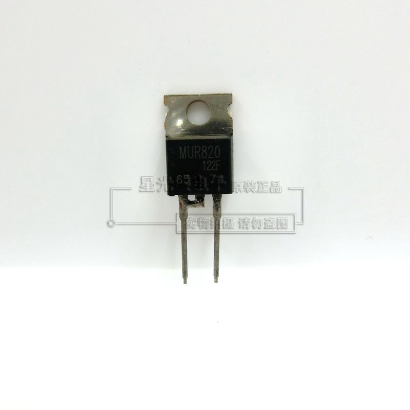 10pcs/lot MUR820 TO-220 Fast Recovery 8A / 200V Rectifier Original Authentic