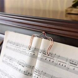 TUTU Musik Buch Clip Metall Lesezeichen rose gold Seite Halter Papier Clip 2 Pack H0130