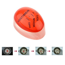 1PC Egg Perfect Color Changing Timer Yummy Soft Hard Boiled Eggs Cooking Kitchen Eco-Friendly Resin Red timer Tools