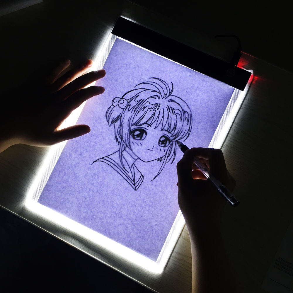 Led Portable A4 Graphic Tablet Night Light Tracing Board Copy Tablet Digital Drawing Pads Artcraft A4 Copy Diamond Painting Lamp (13)