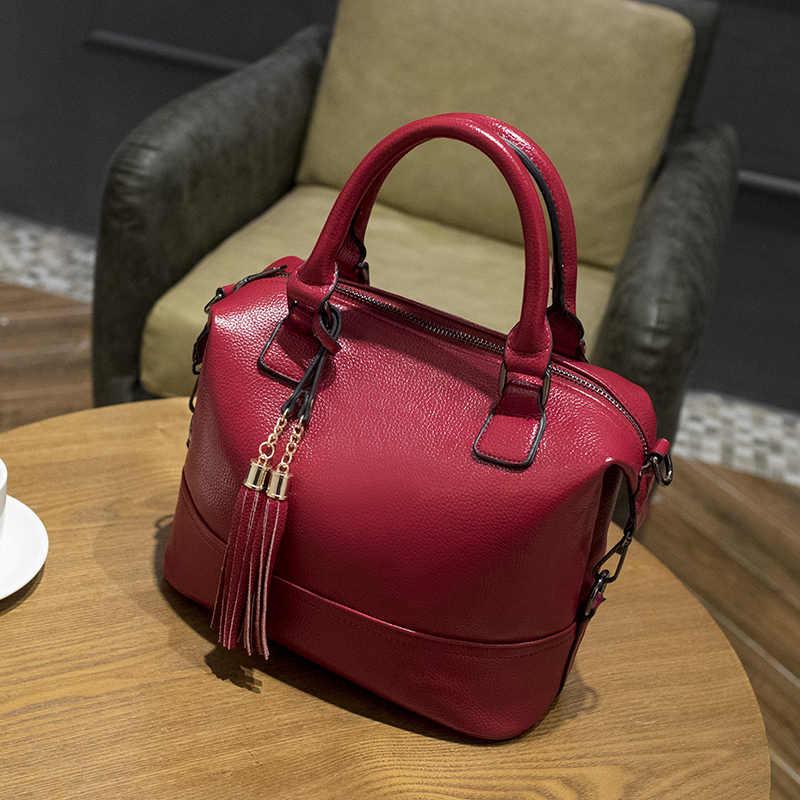 2019 femmes en cuir véritable sacs à main de luxe marque sacs à main femmes sacs messager concepteur gland mode femmes sacs à bandoulière X43