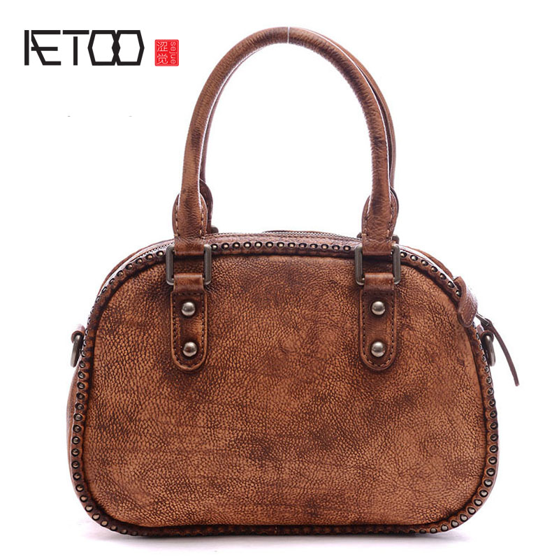 AETOO Lady retro rub color Messenger bag lady do the old handbag shoulder bag the little old lady who broke all the rules