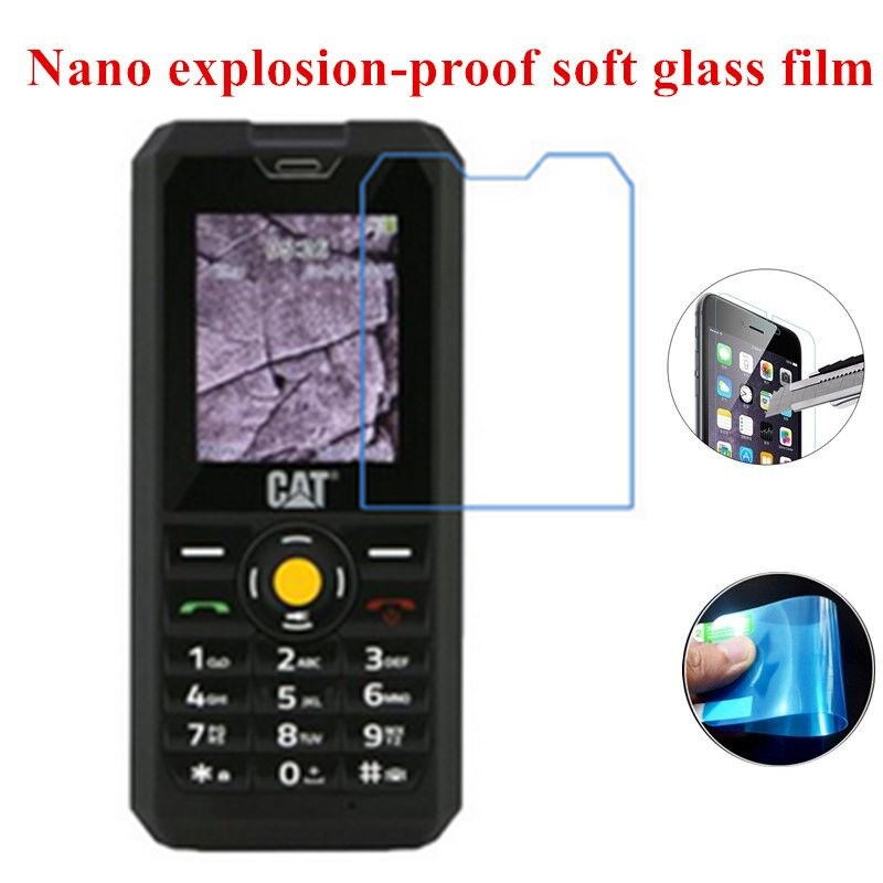 3pcs/lot Nano Explosion-proof Soft Glass Clear Screen Protective Film for CAT B30