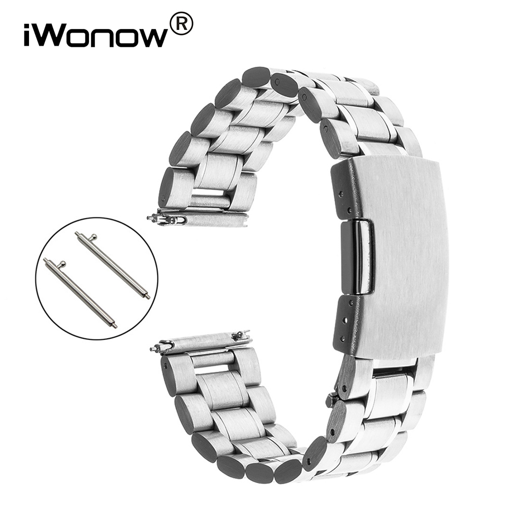 Quick Release Stainless Steel Watch Band + Tool for Tissot Longines Mido Omega Wrist Strap Bracelet Black Silver 18mm 20mm 22mm stylish 29 led 3 color light digit stainless steel bracelet wrist watch black