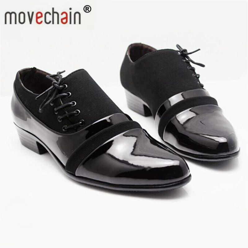 157abd2a004 movechain Fashion Men s PU Leather Lace-up Dress Business Shoes Mens Casual  Driving Flats Oxfords