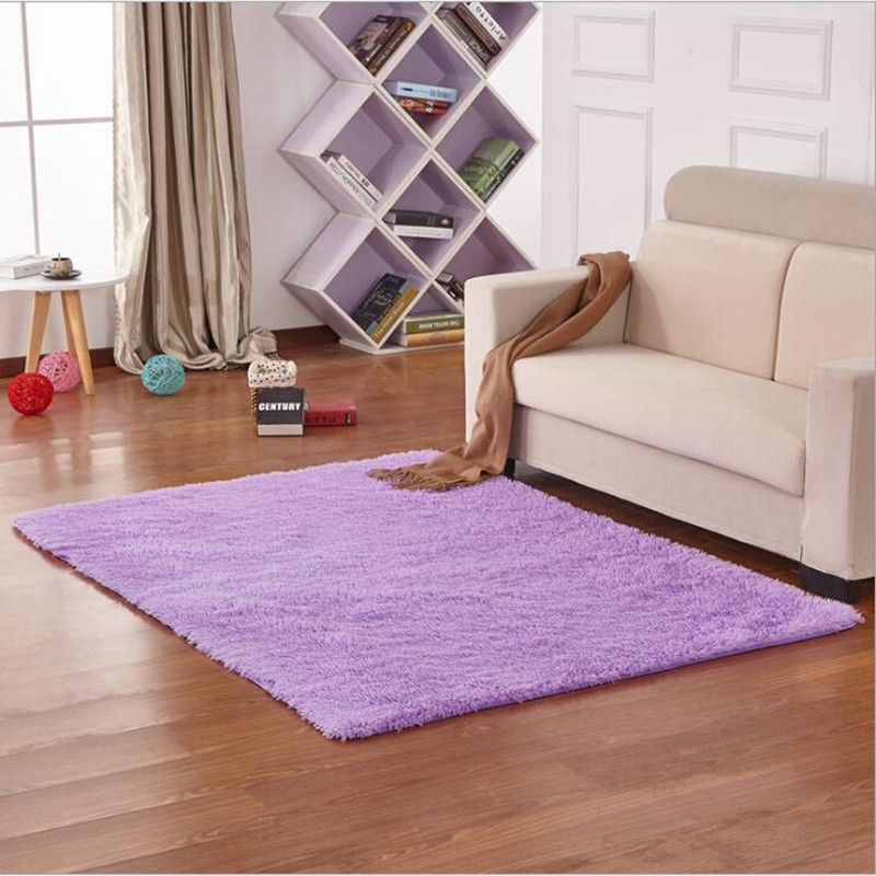 130x130cm Soft Solid Anti skid wool Carpet Living Dining Bedroom Shaggy Mat Rug Thicken Do not fade free shipping