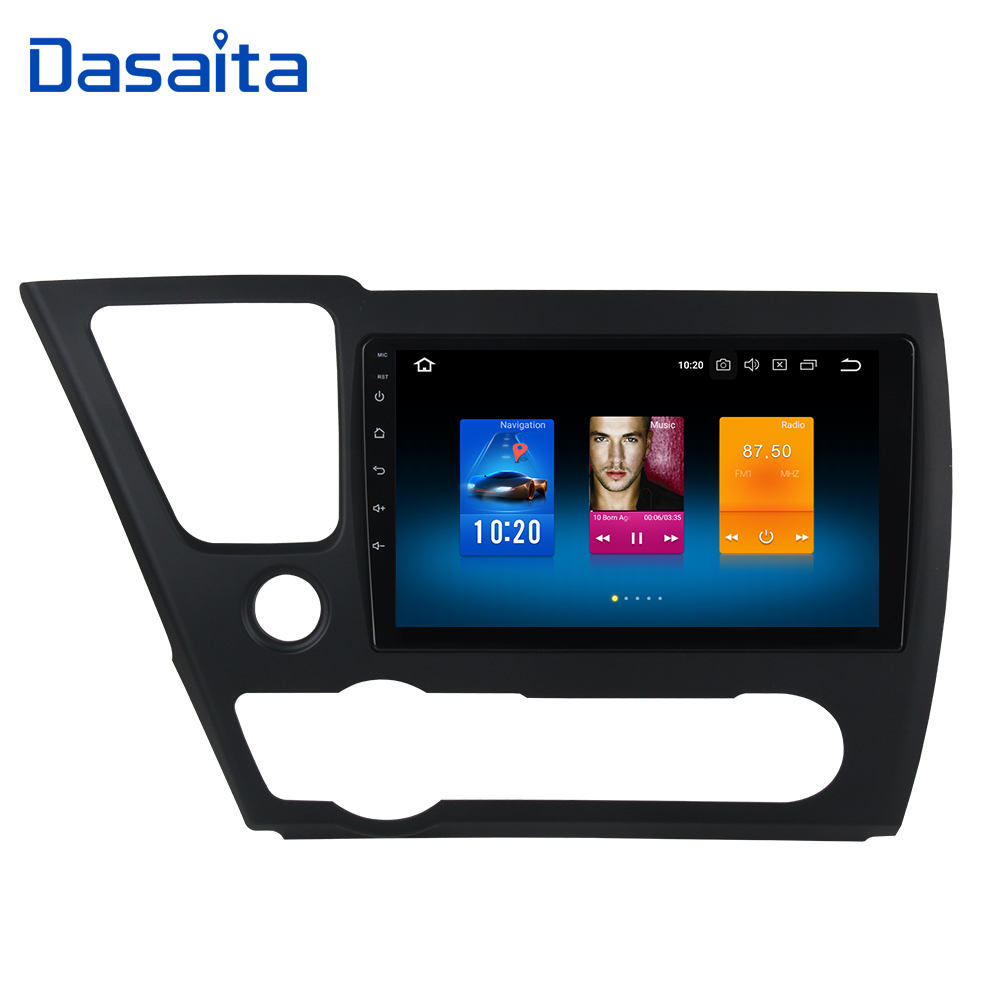 Android 9 0 1Din Car Radio GPS for Honda Civic US Version 2013 2014 2015 with