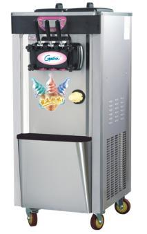 soft <font><b>ice</b></font> cream machine commercial two and one twisted 22L free standing with moving wheels automatic <font><b>ice</b></font> cream <font><b>maker</b></font> stainless