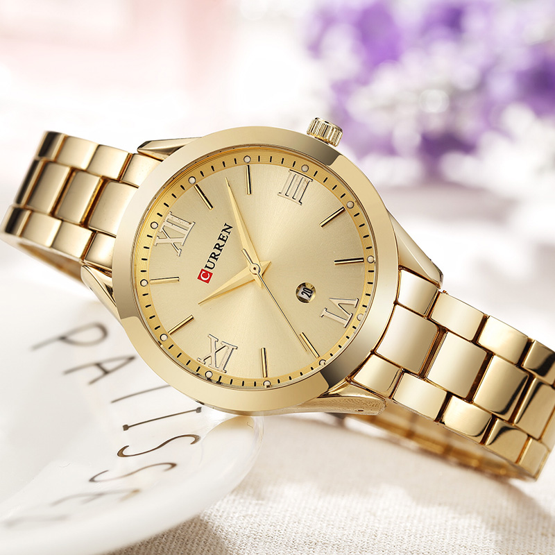 CURREN Gold Watch Women Watches Ladies 9007 Steel Women's Bracelet Watches Female Clock Relogio Feminino Montre Femme 5