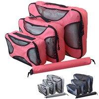 סט 4 יחידות NC קיבולת גדולה שקית אחסון נסיעות נסיעה טיול אריזת מזוודות מקרה לבגדים קוסמטי ארגונית Accessoires