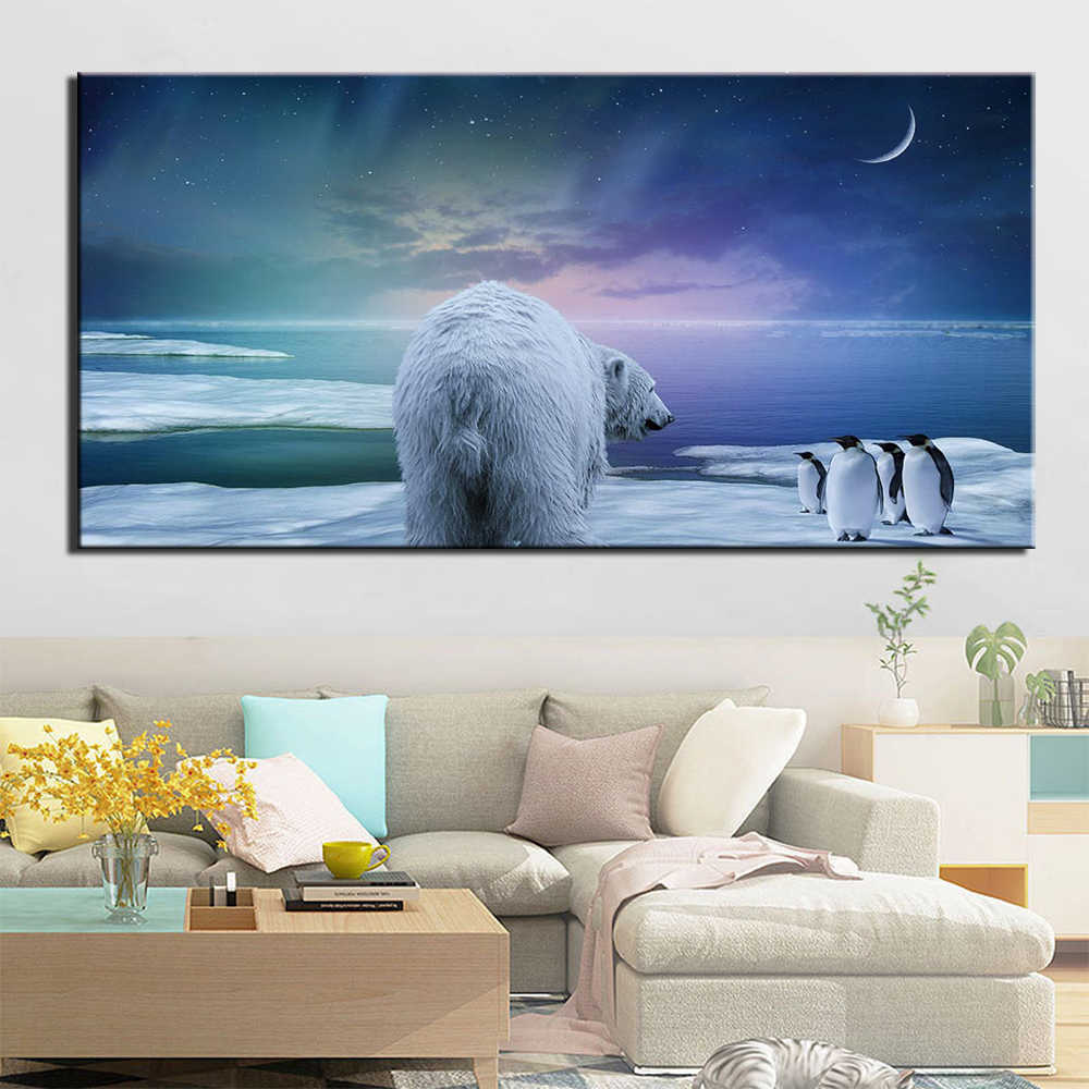 Frame Pictures Home Decor Living Room 1 Panel Animal bear HD Printed Modern Canvas Painting Wall Art Modular Poster