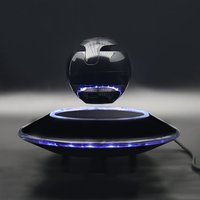 Fashion Magnetic Floating Bluetooth Speaker Lighting Suspension Ball Shaped Speaker Light Flying Saucer Base Rotary Subwoofer