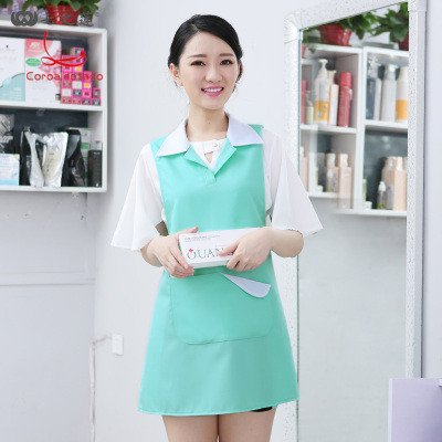Korean Version Of Fashion Beauty Manicure Work Clothes Apron Vest Style Mother And Baby Supermarket Apron