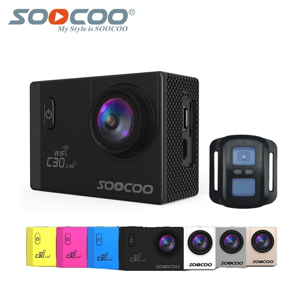 Soocoo C30r Sport Action Kamera Mit Fernbedienung & Wifi 4 Karat Gyro Einstellbar 2,0 lcd 70-170d Objektiv 30 Mt Wasserdichte Ntk96660 Sport & Action-videokamera Unterhaltungselektronik