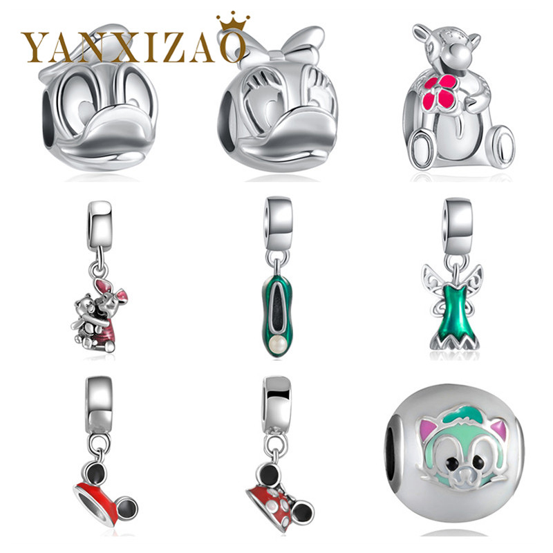 Yanxizao Sterling Fashion Silver 925 CZ Europea Charm Beads Fit - Bisutería
