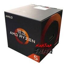 AMD Ryzen 5 1400 R5 1400 3.2 GHz Quad   Core แปดด้าย CPU โปรเซสเซอร์ L2 = 2 M l3 = 8 M 65 W YD1400BBM4KAE ซ็อกเก็ต AM4