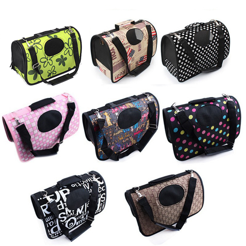 2017 Petcircle New Folding Printing Pet Carrier Carrying Cat Dog Carry Hand Tote Bag Tra ...