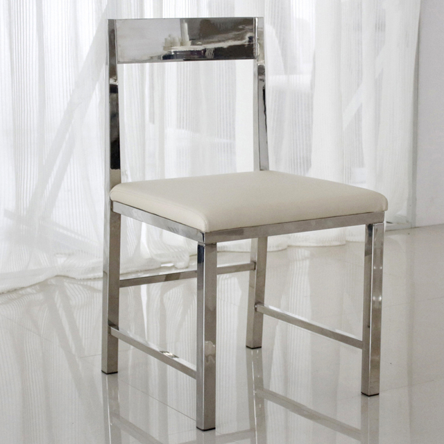 Low Stainless Steel Restaurant Chairs Stylish Modern Minimalist White  Dining Chairs Leather Chairs Parlor Chairs Negotiations