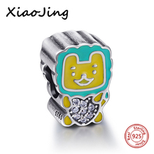 The elephant Beads Fits Charms European Bracelet Animal Cute Original 925 Sterling Silver Jewelry 2017 New Style