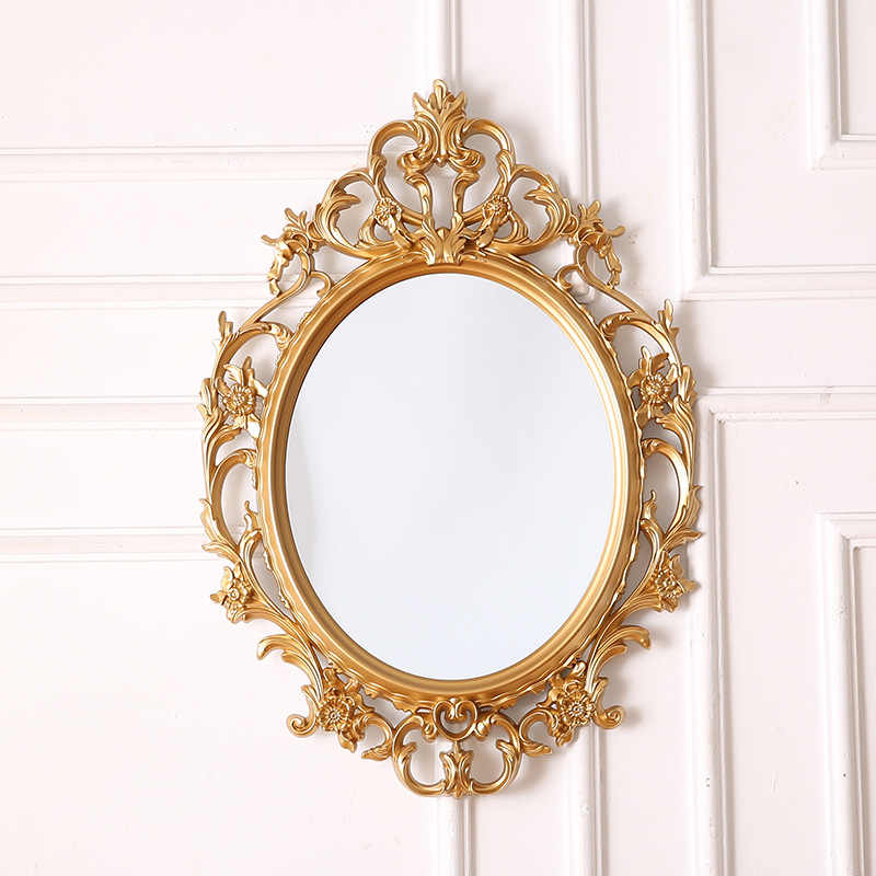 European Classic Oval Decorative Mirror Bathroom Mirror Hanging Wall Porch Mirror Bathroom Wall Hanging Large Size Aliexpress