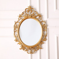 European classic oval decorative mirror bathroom mirror hanging wall porch mirror bathroom wall hanging large size