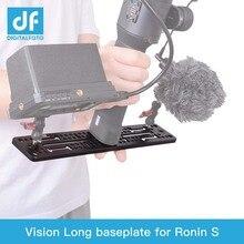 ل DJI رونين S gimbal الاكسسوارات أسفل لوح تمديد الموسعة منصة ربط مصباح ليد رصد و ميكروفون