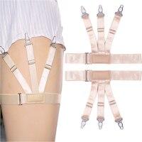 Chất Lượng cao Nylon Nữ Stockings Garter màu Da Đàn Hồi T-Shirt vành đai Dây Đeo Có Thể Điều Chỉnh giarrettiere nịt nam ligas
