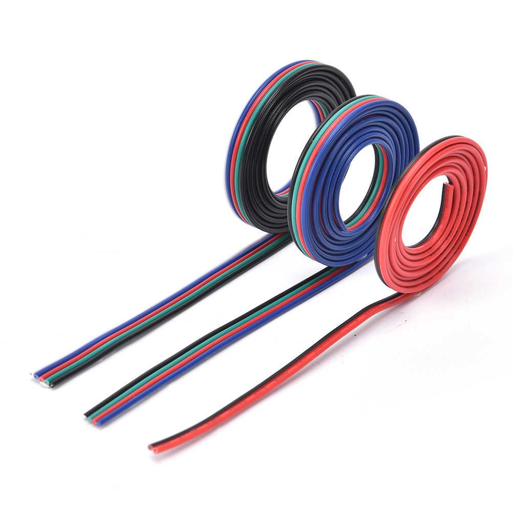 Новый 1 м/лот 2pin 4pin 5pin портативный светодиодный RGB кабель провод-удлинитель Сказочный свет полосы для светодиодный лампы