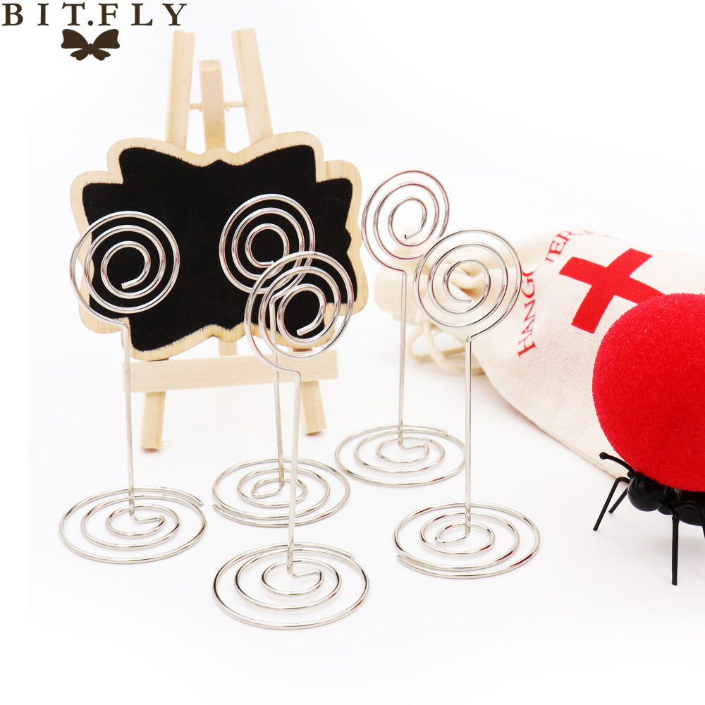 BITFLY 10pcs Heart Star Shape Table Number Place Card Holder Memo Photo Holder Name Place Card Holder Wedding Party Decoration