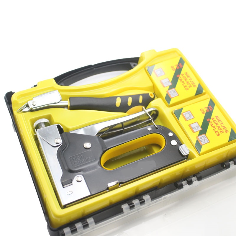 New Nail Staple Gun Furniture Stapler For Wood Door Upholstery Framing With 1200 Nails Manual Nail