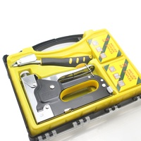 New Nail Staple Gun Furniture Stapler For Wood Door Upholstery Framing With 1200 Nails Manual Nail Gun With Nail Puller