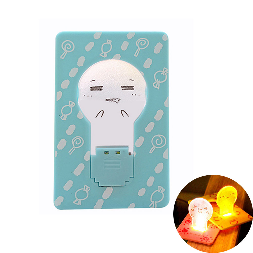 mini LED Card Light Portable Pocket night light Lamp battery powered led energy saving lamp baby lamp led 12v light night