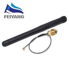 10 sztuk 2.4G antena składany moduł Bluetooth wifi ZigBee antena SMA do linii podajnika IPEX 2.4GHz antena