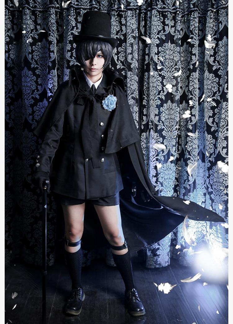 Костюм черного Батлера из аниме, фантастический улей, Женский костюм на Хэллоуин, необычный наряд для вечеринки, повседневные костюмы для м...