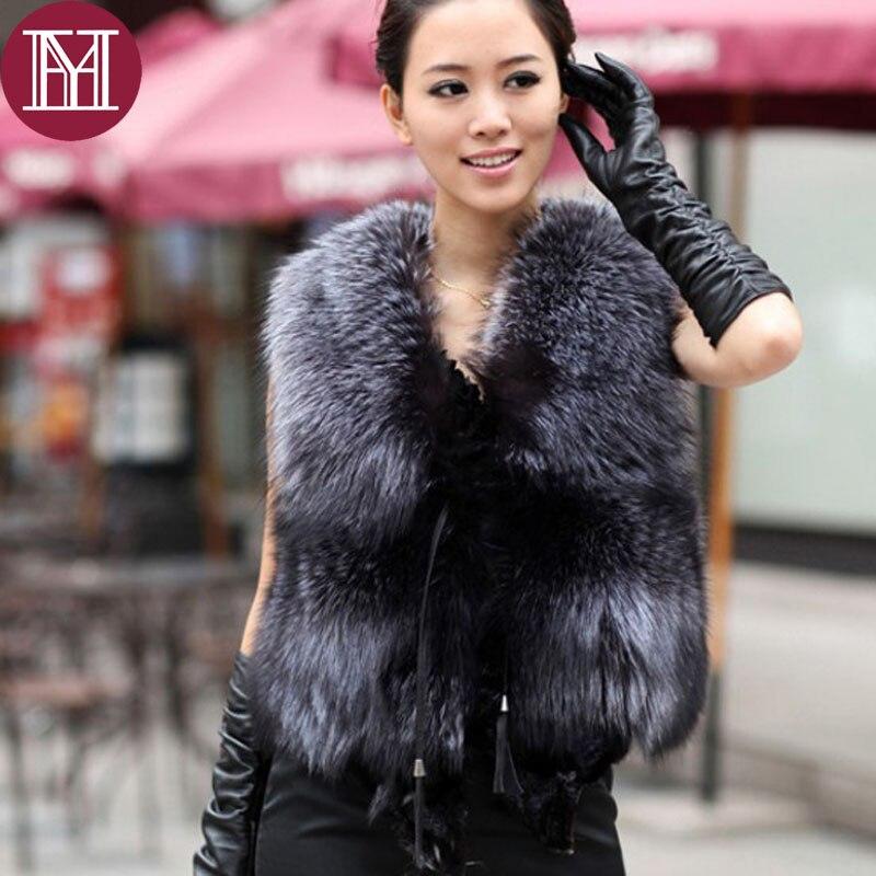 Filles Automne Réel Mode Silver Hiver Pour Les Femmes Casual 2018 Marque Printemps Gilet Fox De Naturel Manteau Fourrure SHqzpwnRZ