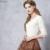 Das Artka Mulheres Primavera 2016 Nova Cor Sólida todo o Jogo Camisa de Algodão Confortável O-pescoço Manga Três Quartos Slim Fit Tee TA10259X