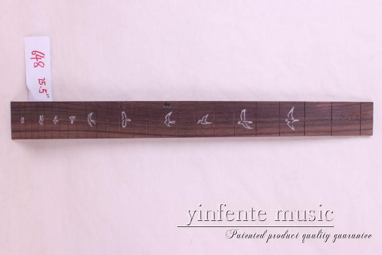 new  high Quality  1 x  25.5   Guitar Fretboard electric guitar rose  Wood Fretboard Parts 4 #  inlay violin bow 4 4 snake wood straight pretty inlay fr og high quality 11 dot inlay flower white horse hair