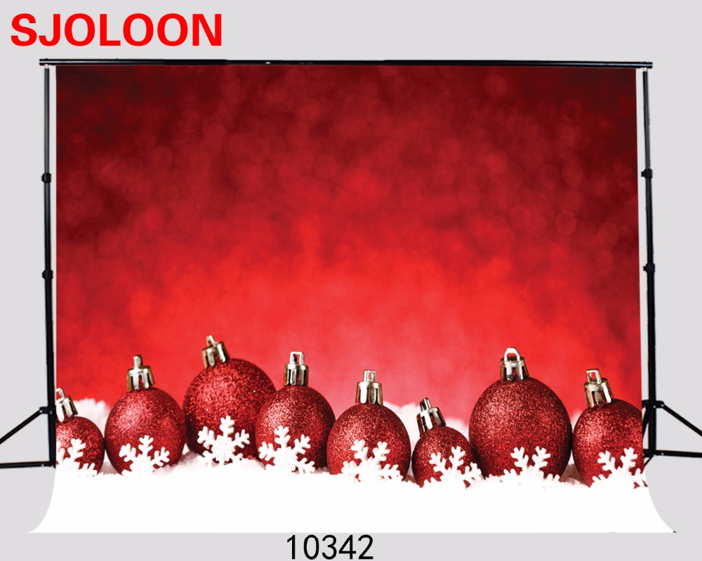 SJOLOON New Christmas ball photo background Christmas backdrops photography studio backdrop  Fond studio photo vinyle 210x150cm fond studio photo vinyle foto background photography backdrops autumn wood window photography backdrops