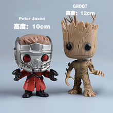 Marvel Funko Pop Guardians of the Galaxy Groot Star-Lord Tree man Action Figure Collection Bobblehead Doll Western Animation