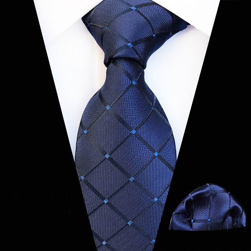 Men/'s Navy White Floral Woven Paisley Jacquard Tie and Pocket Square Set