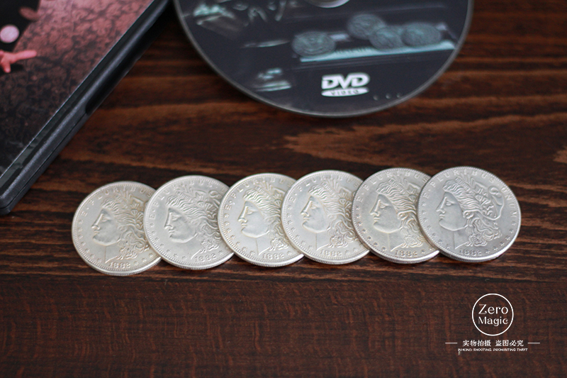 Rhapsody In Morgan,morgan Coin Set,Magic Trick Close Up Illusion Coin Magic Super Effect Magia Toys Joke Gadget Classic Magie
