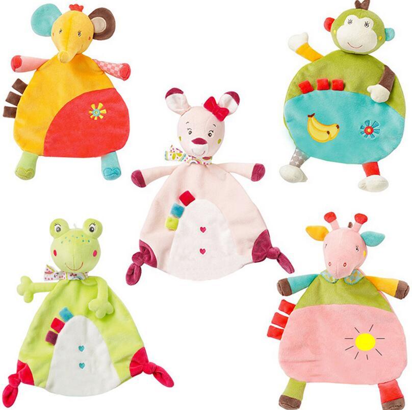 5style Körpə yumşaq dəsmal eşşək dovşan qurbağa meymun fil - Körpələr üçün oyuncaqlar