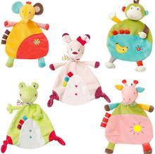 5style Baby weichen Handtuch Esel Kaninchen Frosch Affe Elefant Comfort Appease Plüsch Rasseln Spielzeug für Neugeborene Geschenk 40% Rabatt
