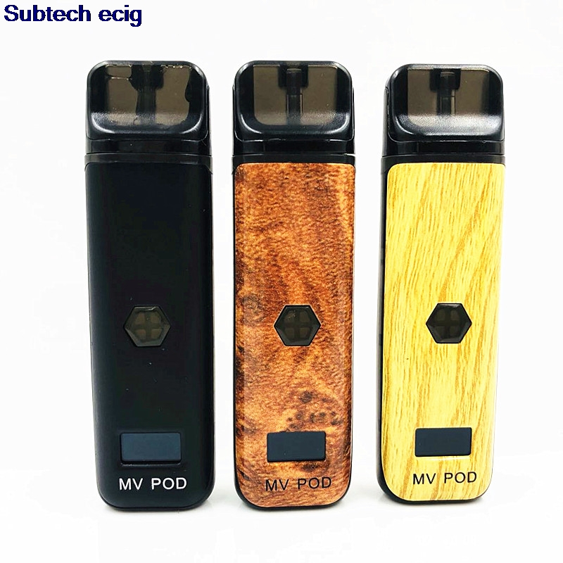 Marvec nouveaux produits Kit de dosette Rechargeable 2 ml 400 mah cigarette électronique OLED écran Variable puissance Rechargeable Vape