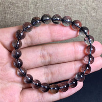 8mm Natural Brazil Black Hair Rutilated Quartz Bracelet Jewelry For Women Men Love Round Beads Crsytal Fashion Bracelet AAAAA