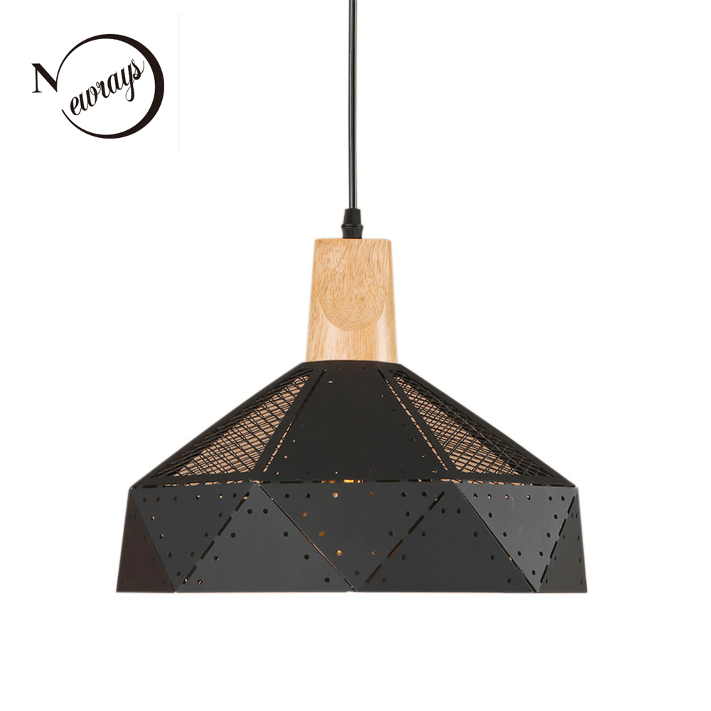Country modern iron wooden pendant light LED E27 home deco hanging lamp with 7 colors for kitchen living room bedroom study cafe diy v0 9 2 mode rocker button switch module for arduino black blue