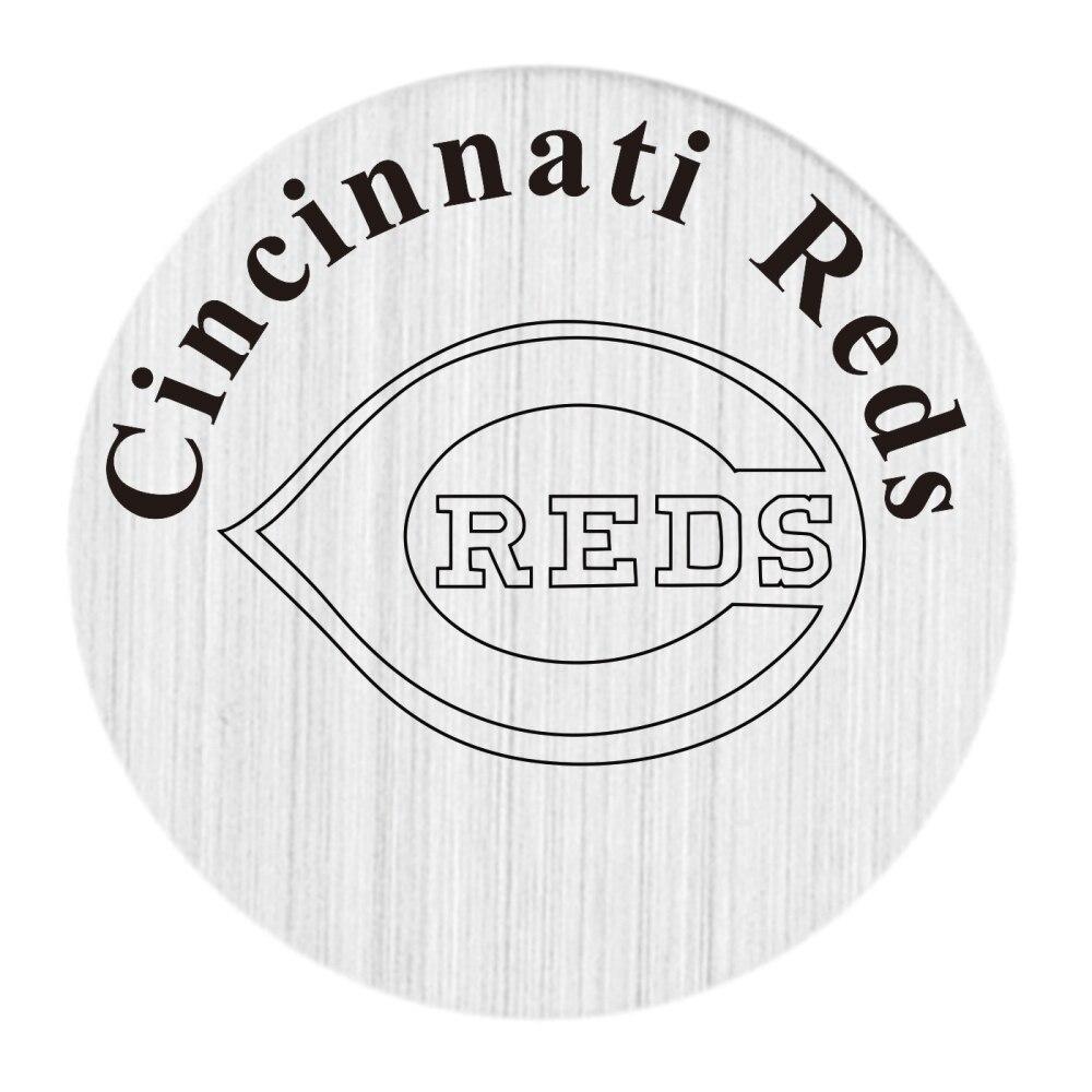 20PCS Cincinnati Reds Locket Disk Fit 30MM Glass Locket